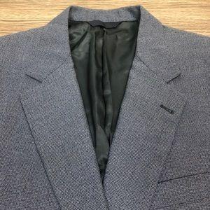 Burberry Blue Check Blazer 46L Long